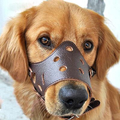 Dog Face PU Leather Mask Muzzle Mouth Anti-bite Duck Anti-called Cover Shape b8edcefc38cb