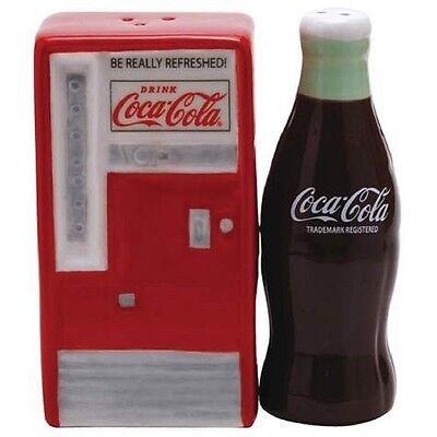 Coca Cola Vending Machine and Bottle Magnetic Salt & Pepper Shakers- Westland