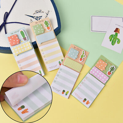 Cactus Kawaii Memo Pad Sticky Notes Cute Office Supplies Bookmark Paper Stickhw