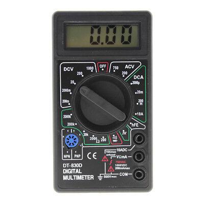 Mini Digital Multimeter Buzzer Voltmeter Ammeter Acdc Meter Tester Dt830d Lcd