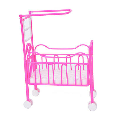 Fashion Darling Doll Furniture Pulley Baby Beds With Mosquito Nets Kids Toy HJ