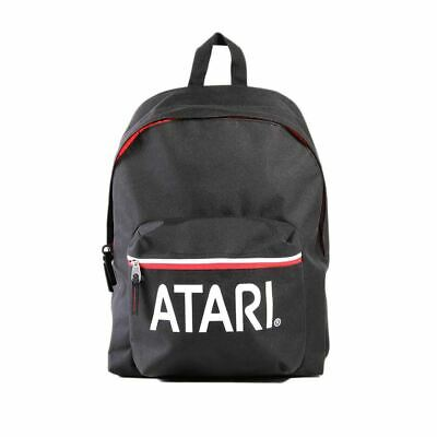 Atari Logo Black Laptop Backpack - Retro Gamer School Bag