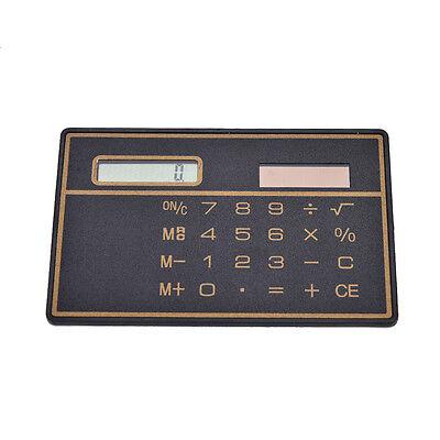 Mini Credit Card Solar Power Pocket Calculator Novelty Small Travel Compact SA
