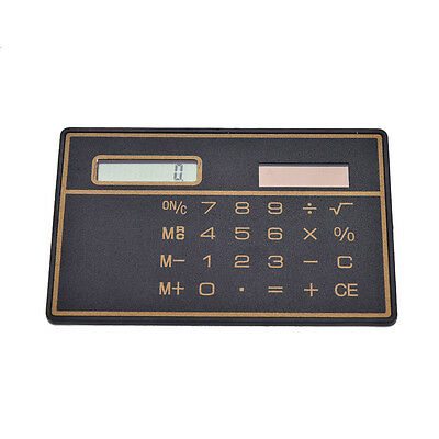 Mini Credit Card Solar Power Pocket Calculator Novelty Small Travel Compact SP