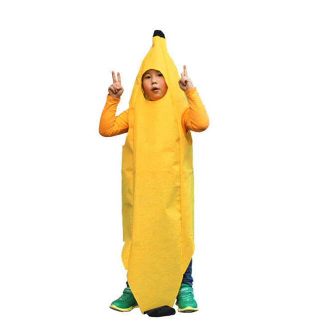 Adult Banana Food Fruit Fancy Dress Costume Stag Do Halloween Mens Outfit Pop