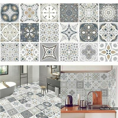 Home Decoration - 24X Kitchen Tile Stickers Bathroom Mosaic Sticker Self-adhesive Wall Home Decor