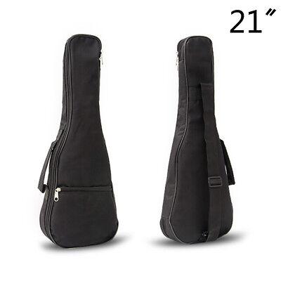 21 inch Ukulele Waterproof Guitar Cover Gig Bag Soft Case Light Gear -Black G1HW
