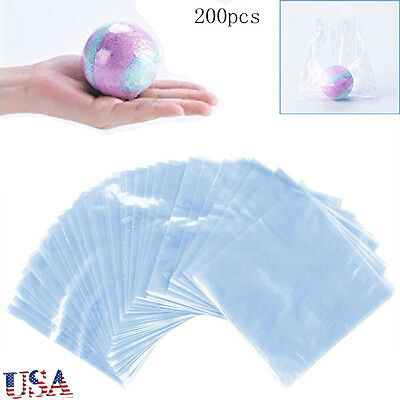 200pcs 6x6 Inch Waterproof Pof Heat Shrink Wrap Bags For Soaps Bath Bombs Usa