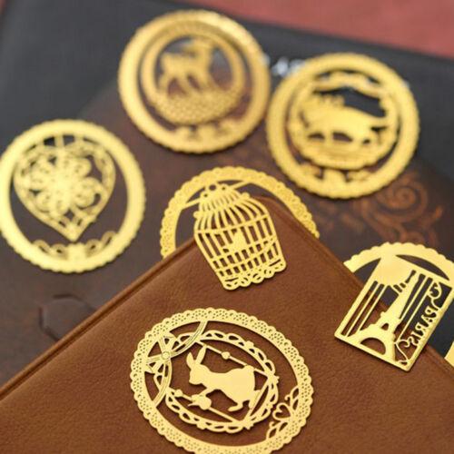 Kawaii Gold Metal Bookmarks Cute Book Marker for Books Stationery Gi TM