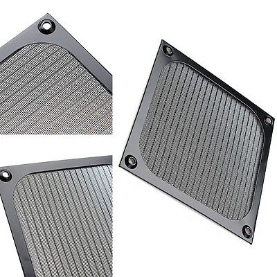120mm Aluminium Lüfter Filter (120mm Computer Lüfter Kühlung Staubdicht Staub Filter Fall Aluminium Grill WDDE)