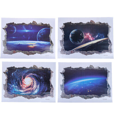 Solar System Outer Space Themed 3D Universe Galaxy Wall Stickers Decoration PN - Solar System Decorations