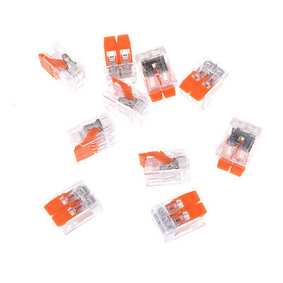 10pcs Universal Compact Wire 2-pin Connector Wiring Conductor Terminal Block Nj