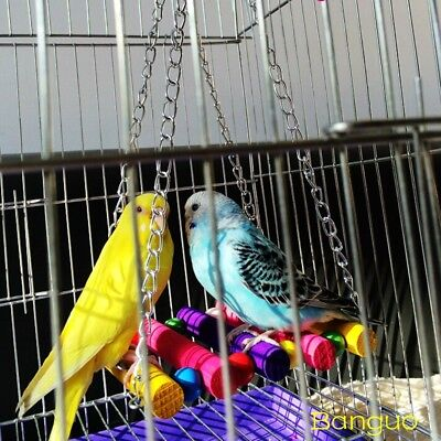 Pet Bird Cage Swing Hammock Hanging Toy Supplies Accessories Parrot Parakeet #DT