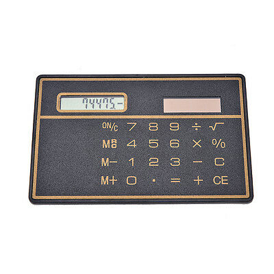 Mini Slim Credit Card Solar Power Pocket Calculator Novelty Small Travel SP