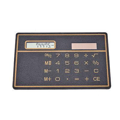 Mini Slim Credit Card Solar Power Pocket Calculators Novelty Small Travel POP QH