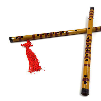 Traditional Long Bamboo Flute Clarinet THudents Musical Instrument 7 Hole Fa RU