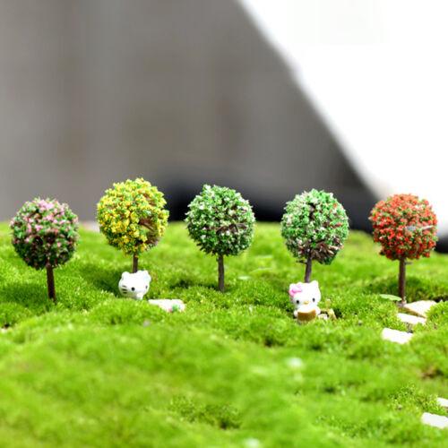 1set Künstliche Rosa Baum Miniatur Garten Haus Dekoration Mini YR