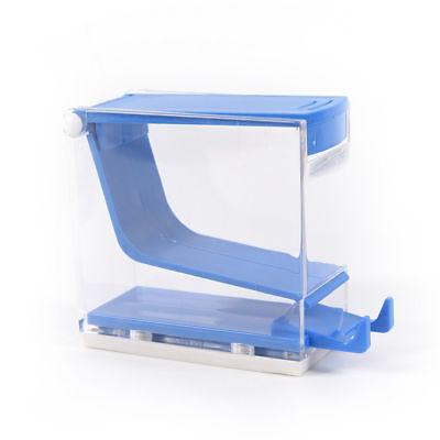 Dental Plastic Cotton Roll Dispenser Holder Case Press Type See-through Tool