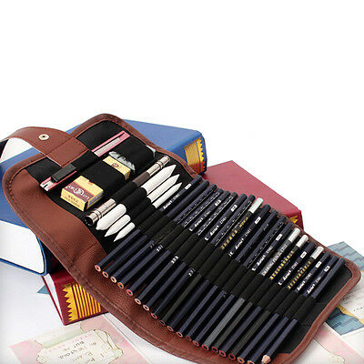BD_24x Set Sketch Pencils case Charcoal Extender Pencil shad