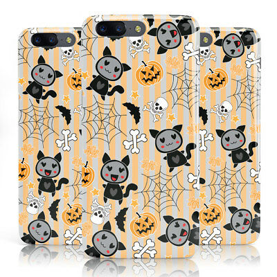 DYEFOR CAT COSTUME HALLOWEEN GREY STRIPE PRINT PHONE CASE COVER FOR ONEPLUS