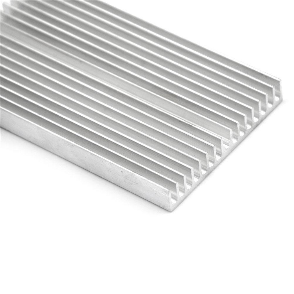 NA 8Pcs 25mm x 25mm x 10mm Aluminum Heat Sink Diffuse Cooling Fin Silver Tone