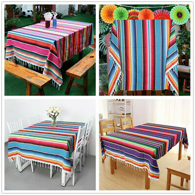 Cotton Serape Mexican Tablecloth Saltillo Table Runner Wedding Carnival Decor](Serape Tablecloth)
