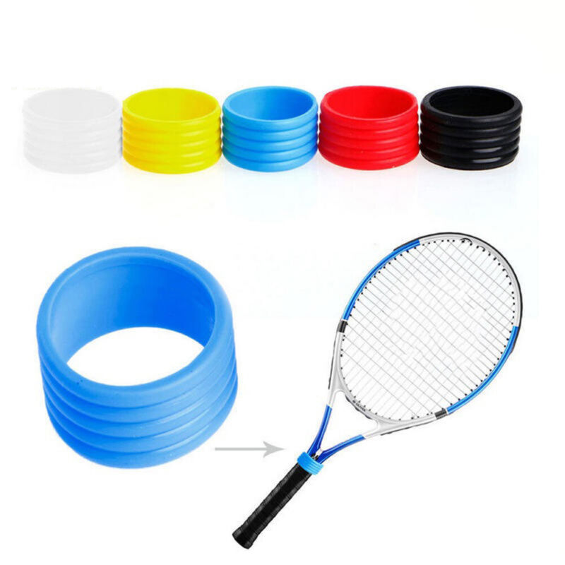 2PC Fashion Tennis Racket Handle's Silicone Ring Tennis Racket Grip Overgrip JT