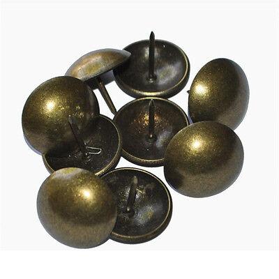 100Pcs Antique Bronze Upholstery Nail Sofa Decorative Tack Jewelry Gift BoxBB PL