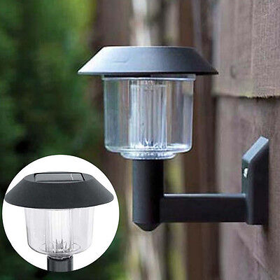 Solar Powered Led Lampe (Solar Powered Wandleuchte Auto Sensor Zaun LED Garten Hof Zaun Lampe Outdoor DJ)