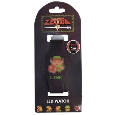 Officially Licensed The Legend of Zelda 8-Bit Link Character LED Watch