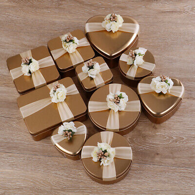 Metal tin candy box gift package box bag wedding birthday party supplies UE