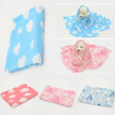 pet dog cute warm blanket fleece fabric puppy baby cat soft blankets 80cmx90cm~!