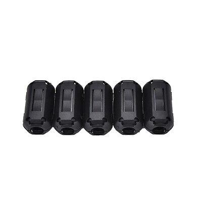 5pcs 3.5mm Noise Suppressor Emi Rfi Clip Choke Ferrite Core Cable Filter Bk3h2