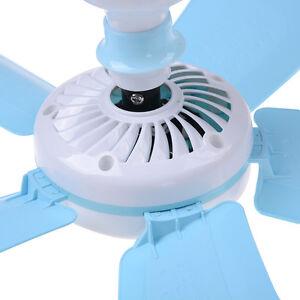 Mini Portable Ceiling Fan Mosquito Net Electric Fan Large Winds Net Silent220V S