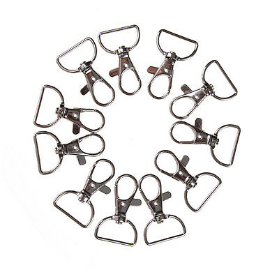 10pcs/set Silver Metal Lanyard Hook Swivel Snap Hooks Key Chain Clasp Clips UCO