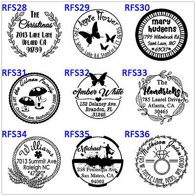 custom logo self inking personalized family business return address rubber stamp