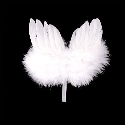 Infant Newborn Boy Girl Fairy Feather Pure white Angel Wings Decor  Uj (Feather Fairy Wings)