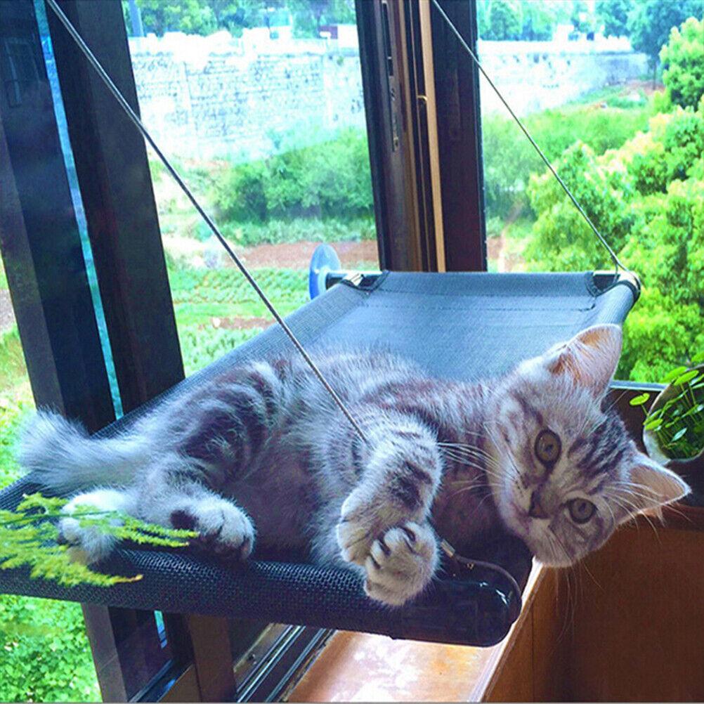 Katzenbett Sitz Hängebetten Hängematte Abdeckung Fenstermontage Saugnapf Sunny