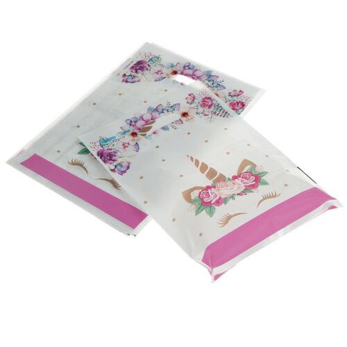 10pcs Unicorn Plastic Gift Bags Candy Bag Loot Bags For Kids