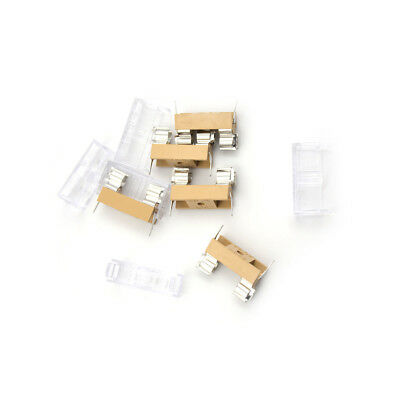 5pcs Panel Mount Pcb Fuse Holder With Cover For 5x20mm Fuse 250v 10a Er Kk