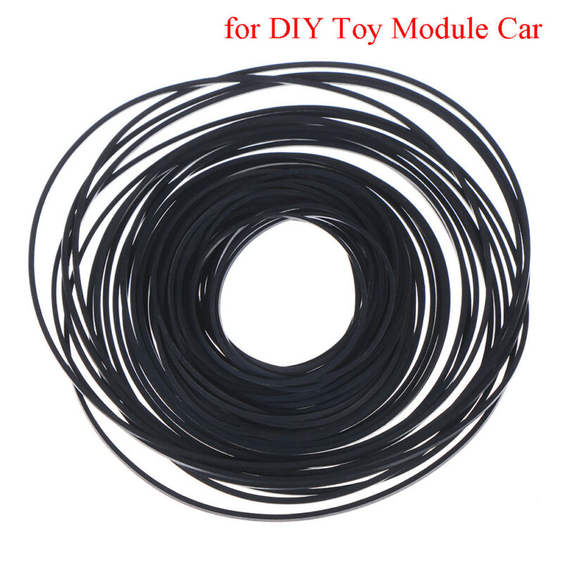 Rubber pulley transmission engine drive round belts for diy toy module car mo ^P