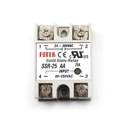 (24V-380V 25A SSR-25AA Solid State Relay Module 80-250VAC AC-AC ESM)