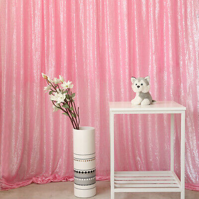Blush Wedding Decor (Blush Pink Sequin Backdrop Curtain Shiny Background Wedding Party)