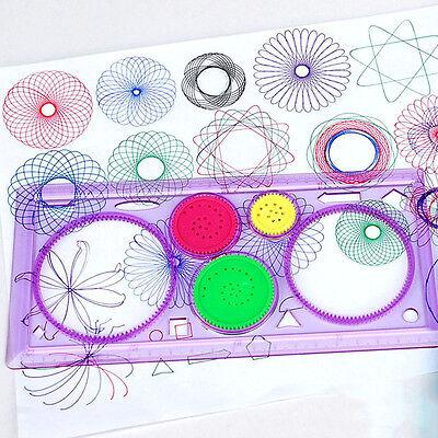 1x espirógrafo Geometric Ruler herramienta de dibujo papelería
