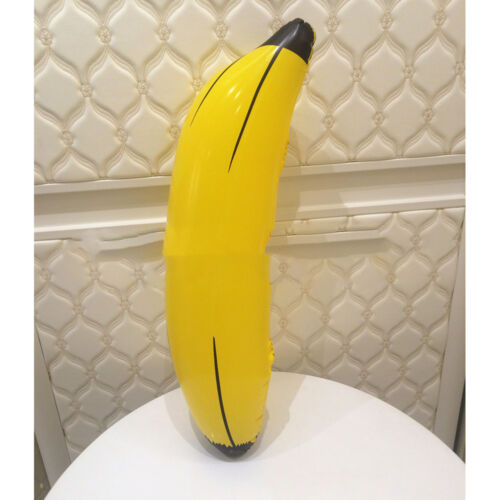 Large 66cm Inflatable Banana PVC Blow up Tropical Fruit Cute Toy Kids PartOSXI