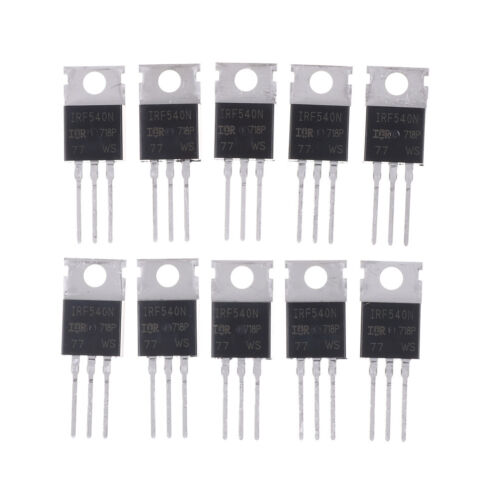 10Pcs Irf540N Irf540 To-220 N-Channel 33A 100V Power Mosfet B GF