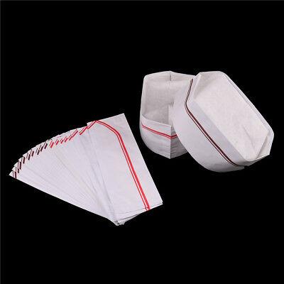 10X Disposable Cook Adjustable Men Kitchen Baker Chef Paper Cap Hat CaterinK - Chef Cap