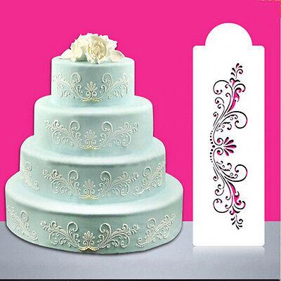 Lace Flower Border Edge Cake Stencil Decor Sugarcraft Fondant Baking Tool Pop - Cake Pop Tools