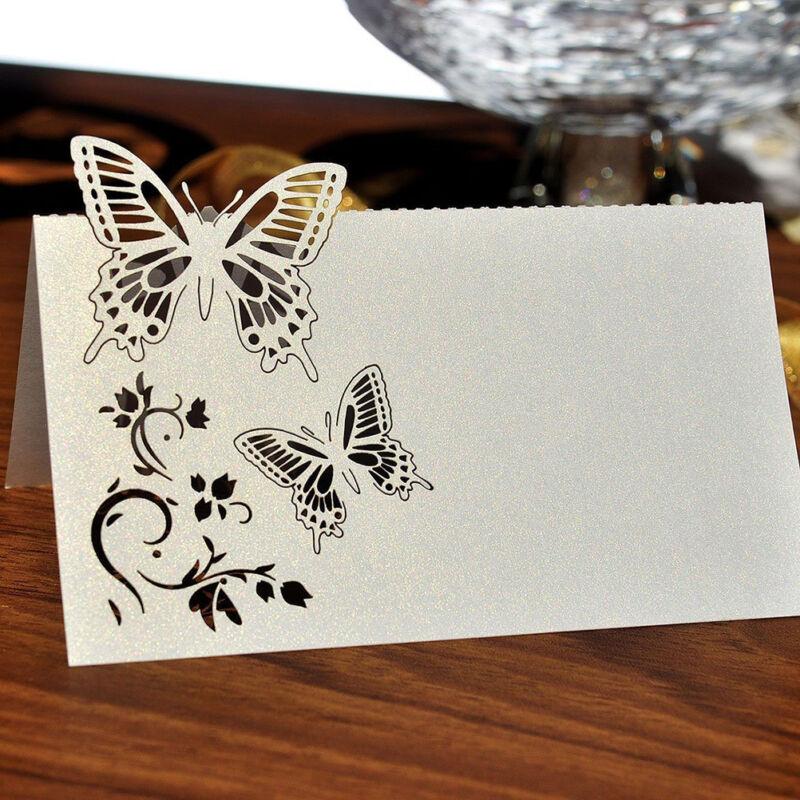 50 schmetterlings tischkarten namenskarten platzkarten hochzeit dekoration. Black Bedroom Furniture Sets. Home Design Ideas