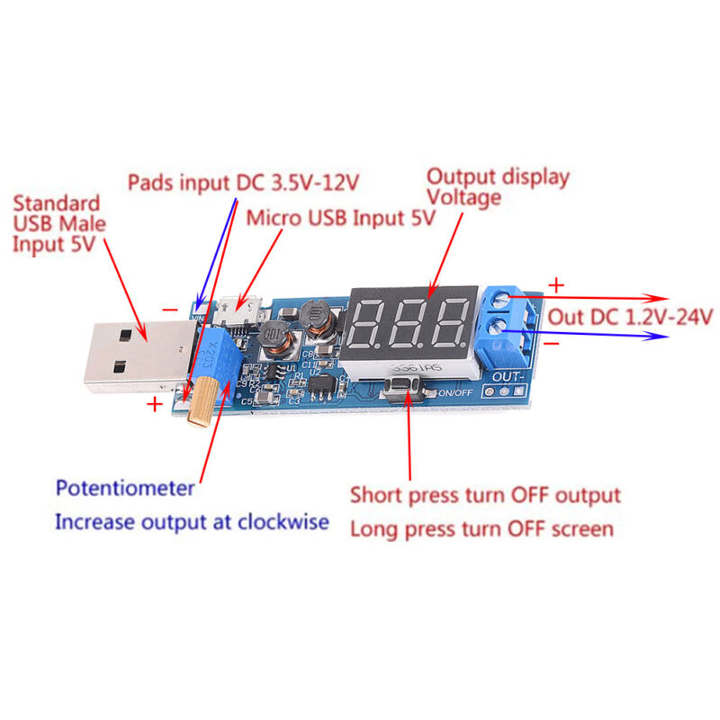5V 12V Power Supply Circuit Diagram | Dc Dc Jgb Step Up Down Power Supply Module Boost Converter 5v To 3 3